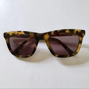 Karen Walker Deep Freeze Tortoise Sunglasses